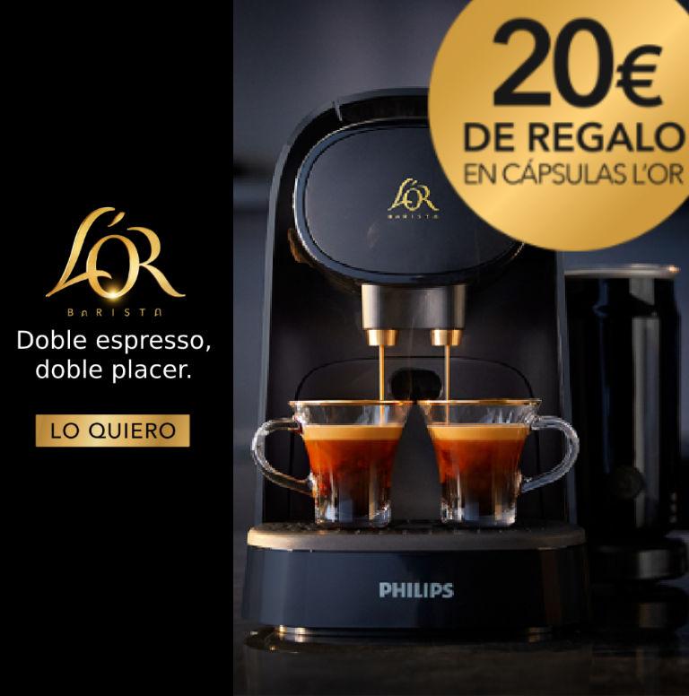 Consigue 20€ de regalo en cápsulas por la compra de tu Cafetera L´OR Philips