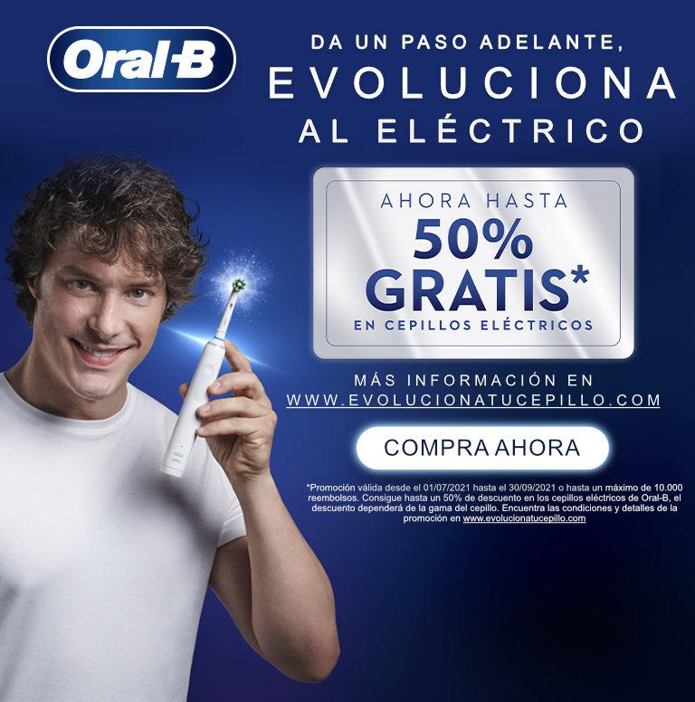 Consigue hasta un 50% de reembolso por la compra de tu producto Oral B