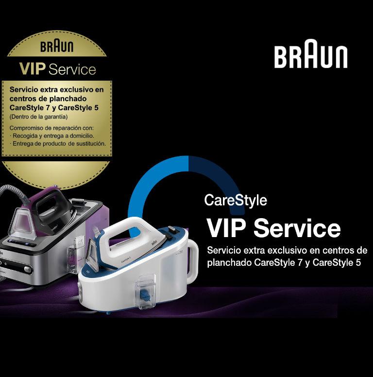 Compra tu Centro de Planchado CareStyle de Braun y consigue un Servicio Premium