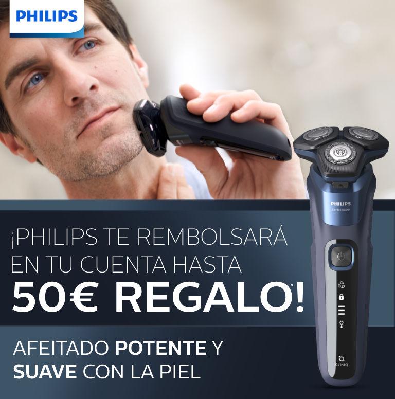 Consigue hasta 50€ de reembolso por la compra de tu afeitadora Philips