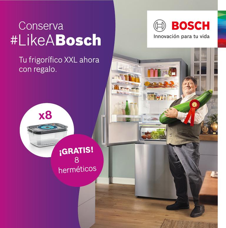 Consigue unos recipientes herméticos por la compra de tu frigorífico Combi Bosch