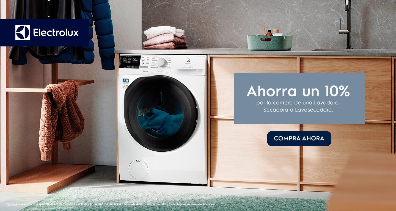 Consigue un 10% de reembolso por la compra de tu lavadora, lavasecadora o secadora Electrolux