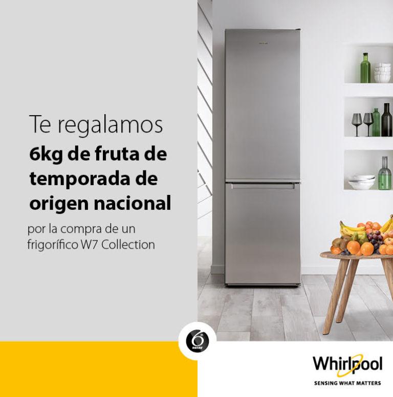 Consigue una caja de fruta de 6 kg por la compra de tu frigorífico Whirlpool