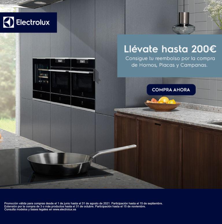 Consigue hasta 200 euros de reembolso por la compra de tu electrodoméstico de cocina Electrolux