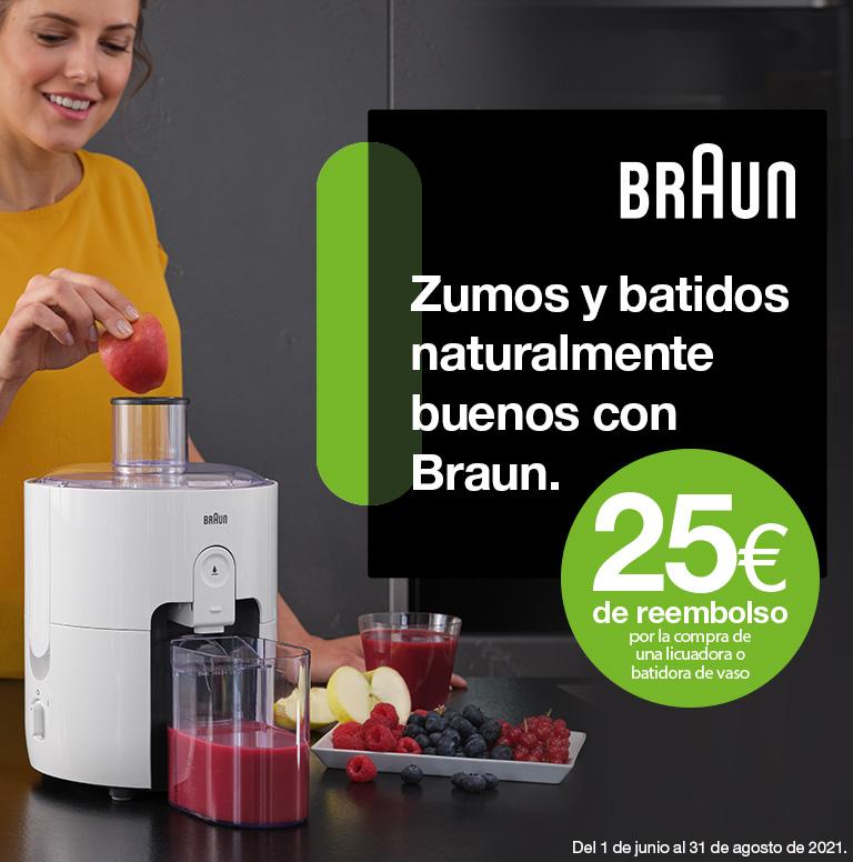 Consigue 25 euros de reembolso por la compra de tu batidora de vaso o licuadora Braun