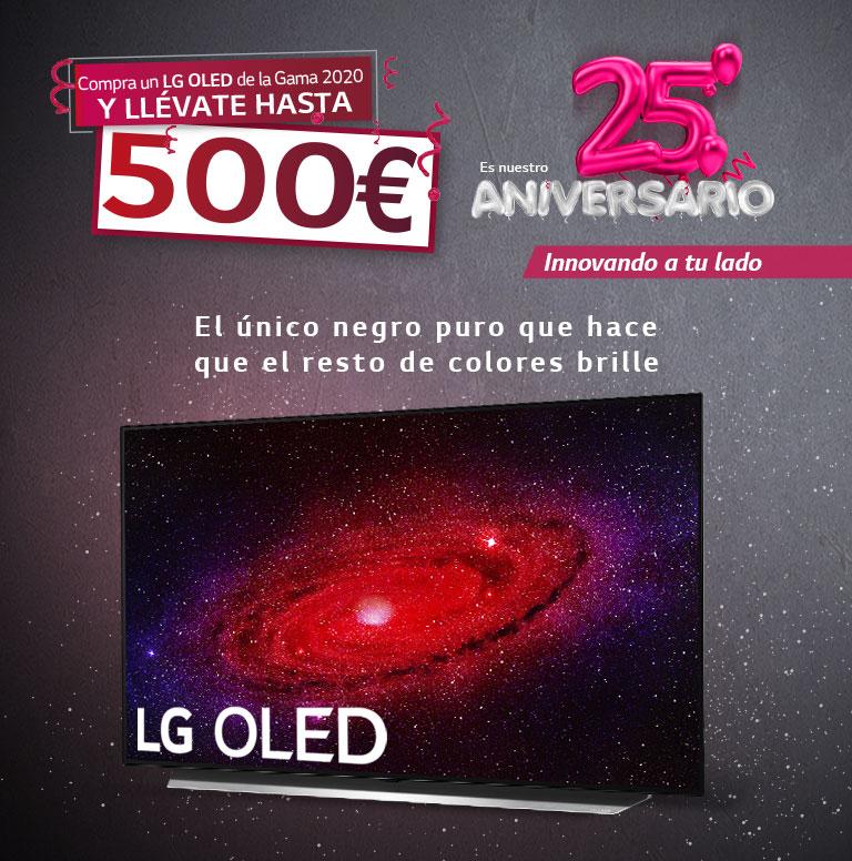 Consigue un reembolso de hasta 500 euros por la compra de tu televisor OLED LG
