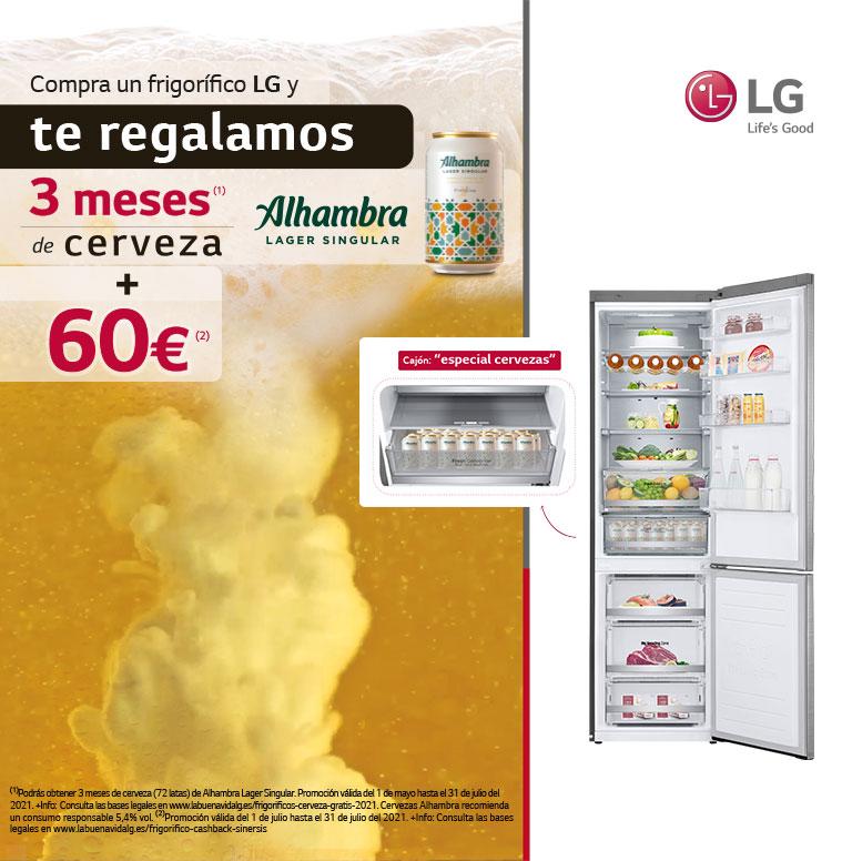 Consigue un reembolso de 60 euros por la compra de tu frigorífico LG