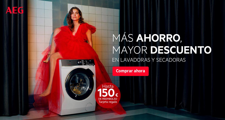 Consigue  hasta 150 euros de reembolso por la compra de tu lavadora o secadora AEG