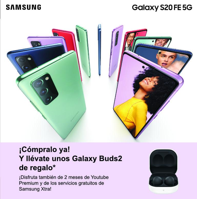 Consigue unos auriculares Galaxy Buds2 de regalo por la compra de tu smartphone Galaxy S20 Samsung