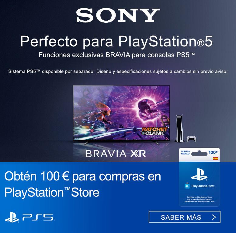 Consigue 100 euros de compra en Playstation Store por la compra de tu televisor Bravia XR Sony