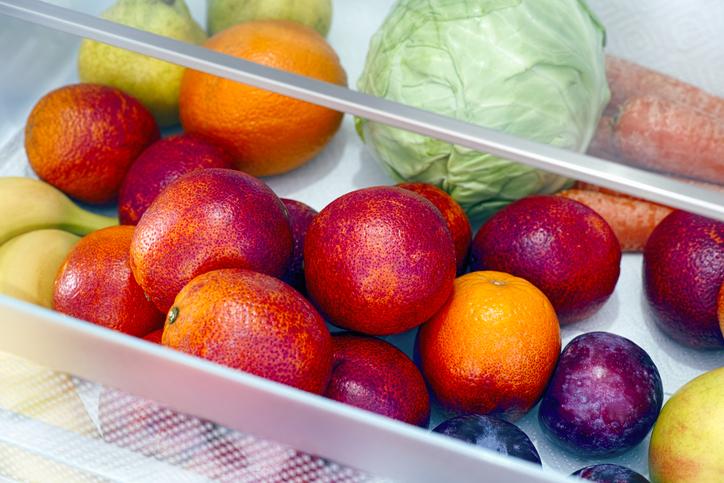 fruta cajon nevera